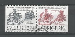 Sweden 1985 St Knut Pair  Y.T. 1322a (0) - Oblitérés