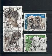 Sweden 1994 Fauna Y.T. 1786/1789 (0) - Oblitérés