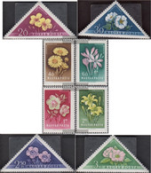 Hungary 1534A-1541A (complete Issue) Unmounted Mint / Never Hinged 1958 Flowers - Unused Stamps