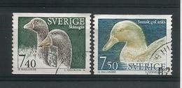 Sweden 1995 Ducks Y.T. 1851/1852 (0) - Oblitérés
