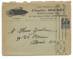 ENSEMBLE DE DOCUMENTS VELOCAR - PTITAUTO - PRODUCTIONS CHARLES MOCHET 1931 - Publicités