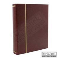 Schaubek Rb-1111 Universal-Folienblattalbum Attaché Für ETB Mit 20 Blatt Fo-111 Für Formate Bis DIN A4 Rot - Groß, Grund Schwarz