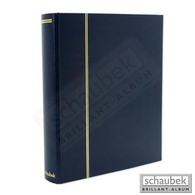 Schaubek Rb-1123 Universal-Folienblattalbum Attaché Für FDC Mit 20 Blatt Fo-112 Mit 2 Taschen 220x145 Mm Blau - Albums à Bandes