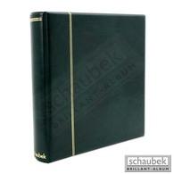 Schaubek Rb2054 Ringbinder Senator, Grün Wattierter Kunstlederbinder - Albums à Bandes