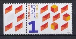 Nederland - 24 Januari 2019 - 220 Jaar Postbedrijf - 1799-2019 - PTT/KPN/TPG Post/TNT Post/PostNL - MNH - Tab Links - Period 2013-... (Willem-Alexander)