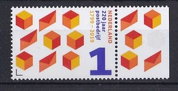 Nederland - 24 Januari 2019 - 220 Jaar Postbedrijf - 1799-2019 - PTT/KPN/TPG Post/TNT Post/PostNL - MNH - Tab Rechts - Post