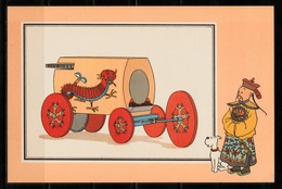 """TINTIN / Chromo """"Voir Et Savoir"""" Par Hergé : Automobile N° 1 - Edition CASTERMAN - Other"""