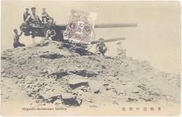 Cpa Asie – Chine – Higashi-keikanzan Battery ( Canon, Guerre ) - Chine