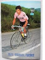 Carte Postale De José Manuel FUENTE - Dédicace - Hand Signed - Autographe Authentique - Cyclisme