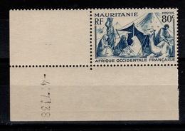 Mauritanie - YV 86 N** Petit Coin Daté - Mauritanie (1906-1944)
