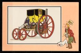 """TINTIN / Chromo """"Voir Et Savoir"""" Par Hergé : Automobile N° 5 - Edition CASTERMAN - Other"""