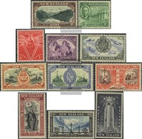 New Zealand 282-292 (complete Issue) Unmounted Mint / Never Hinged 1946 Victory Edition - 1907-1947 Dominion