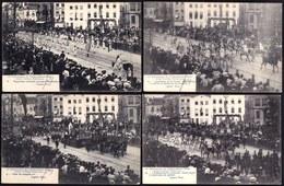 SUPERBE LOT DE 9 CPA ** CORTEGE HISTORIQUE 75e ANNIVERSAIRE INDEPENDANCE - A BRUXELLES ** - Fêtes, événements
