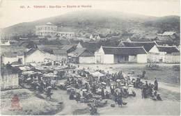 Cpa Asie – Tonkin –  Dap-Cau – Ecoles Et Marché - Viêt-Nam