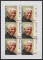 Sierra Leone 2018 Mi. ? M/S Joint Issue PAN African Postal Union Nelson Mandela Madiba 100 Years - Sierra Leone (1961-...)