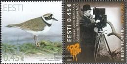 Estonia 731,732 (complete Issue) Unmounted Mint / Never Hinged 2012 Birds, Film - Estonia