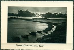 CARTOLINA - SICILIA CV1439 TRAPANI (TP) Tramonto E Isole Egadi, FG, Viaggiata 195…. Per La Francia, Ottime Condizioni - Trapani
