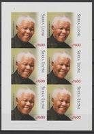 IMPERF ND Sierra Leone 2018 Mi. ? M/S Joint Issue PAN African Postal Union Nelson Mandela Madiba 100 Years - Sierra Leone (1961-...)