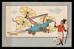"TINTIN / Chromo ""Voir Et Savoir"" Par Hergé : Aviation Origine N° 1 - Edition CASTERMAN - Cromo"