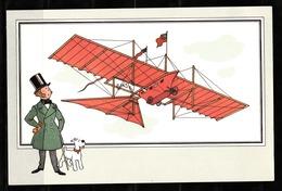 "TINTIN / Chromo ""Voir Et Savoir"" Par Hergé : Aviation Origine N° 2 - Edition CASTERMAN - Cromo"