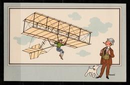"TINTIN / Chromo ""Voir Et Savoir"" Par Hergé : Aviation Origine N° 4 - Edition CASTERMAN - Cromo"