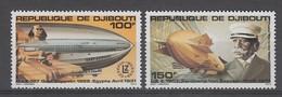 PAIRE NEUVE DE DJIBOUTI - 80E ANNIVERSAIRE DU PREMIER VOL D'UN ZEPPELIN N° Y&T PA 144/145 - Zeppelins