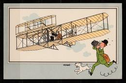 "TINTIN / Chromo ""Voir Et Savoir"" Par Hergé : Aviation Origine N° 6 - Edition CASTERMAN - Cromo"