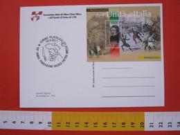 A.06 ITALIA ANNULLO - 2011 TORINO 50 ANNI NUSEO PIETRO MICCA ASSEDIO 1706 STORIA FOGLIETTO GIOBERTI CARD PILA LUCE - Storia