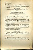 239 REGIO DECRETO 1874 , TREMESTIERI ETNEO , BOVALINO , PRIVATIVA DEI TABACCHI  IN SICILIA - Decreti & Leggi
