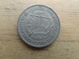Chypre  100  Mils  1955  Km 37 - Chypre