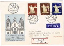 Portugal, 1964, FDC 1º Centenário Do Sameiro, Carimbo Do Funchal - FDC