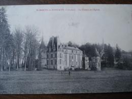 Dpt 14 St Martin De Bienfaite Chateau Et L Eglise Ed Fillion - Altri Comuni