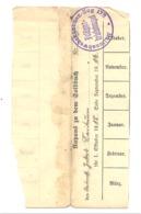 """GUERRE 14/18 - Lot De 2 Documents - Carnet De Paie Avec Cachet """" Ballonabwerkkanonen Zug """" - 17e Artillerie (nod 1) - 1914-18"""