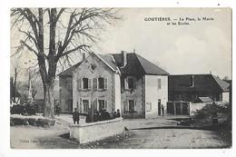GOUTIERES  (cpa 63)  La Place, La Mairie Et Les écoles    -  L 1 - France