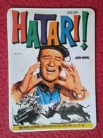 SPAIN CALENDARIO DE BOLSILLO CALENDAR HATARI FILM CINE JOHN WAYNE RINOCERONTE RHINO RHINOCEROS RHINOS RHINOCEROSES 1989 - Calendarios