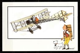 "TINTIN / Chromo ""Voir Et Savoir"" Par Hergé : Aviation Origine N° 37 - Edition LOMBARD - Cromo"