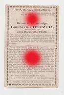 GULPEN  Lambertus BLEZER PALM  1814 - 1891 - Décès