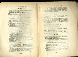 238 DECRETO 1947 , RICOSTITUZIONE DEI COMUNI CONIOLO  BORGIALLO CANISCHIO CHIESANUOVA COLLERETTO CASTELNUOVO CASALEGGIO - Decreti & Leggi