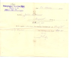 GUERRE 14/18 - Reçu D'une Somme De Dédomagement  Pour Un Soldat Allemand D'Eupen En 192... Monschau / Montjoie (nod 1) - 1914-18