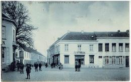 HAMME - Grand'Place Et Rue De L' Eglise - SBP N° 1 - Hamme
