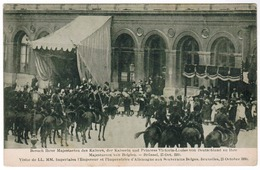Visite De LL MM Impérales L'Empereur Et L'Imperatrice D'Allemagne Aux Souverains Belges Bruxelles Octobre 1910 (pk55091) - Feesten En Evenementen