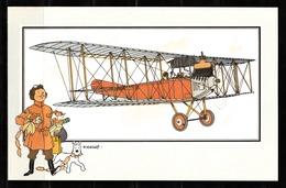 "TINTIN / Chromo ""Voir Et Savoir"" Par Hergé : Aviation Origine N° 59 - Edition LOMBARD - Cromo"
