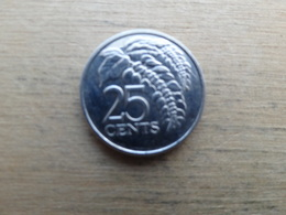 Trinite & Tobago  25  Cents  2012  Km !!! - Trinité & Tobago