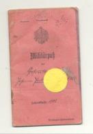 GUERRE 14/18 - Livret Militaire D'un Soldat Allemand D'Eupen - Service Militaire 1908, 1913, 15 Et 20 Cachet  (nod 1) - 1914-18
