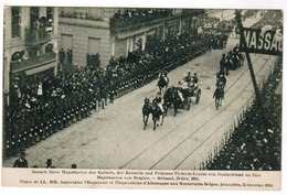 Visite De LL MM Impérales L'Empereur Et L'Imperatrice D'Allemagne Aux Souverains Belges Bruxelles Octobre 1910 (pk55093) - Feesten En Evenementen