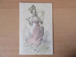 CPA Illustrateur - Femme En Costume Et Ombrelle - Carte Signée WATZAL - En Couleur - Non-circulée - Autres Illustrateurs