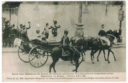 Visite De LL MM Impérales L'Empereur Et L'Imperatrice D'Allemagne Aux Souverains Belges Bruxelles Octobre 1910 (pk55094) - Feesten En Evenementen