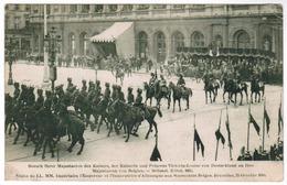 Visite De LL MM Impérales L'Empereur Et L'Imperatrice D'Allemagne Aux Souverains Belges Bruxelles Octobre 1910 (pk55095) - Feesten En Evenementen