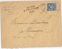 CALVADOS ( 13 ) « CAEN » LSI - 15g. - Tarif à 15c. (1.5.1878/15.4.1906) N°101 T.IIE  – 15c.  SAGE - Storia Postale