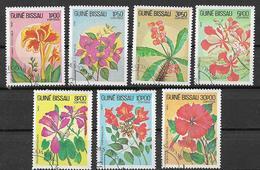GUINEA BISSAU 1983 FIORI YVERT. 217-223 USATA VF - Guinea-Bissau